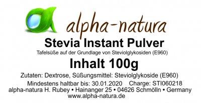 Stevia Instant Pulver 100g