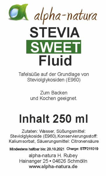 4 x 250ml Stevia Premium Flüssig