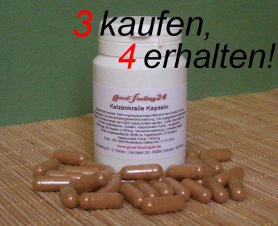 180 Katzenkralle Kapseln 99g (12,07 €/ 100g) a 450 mg Una de Gato